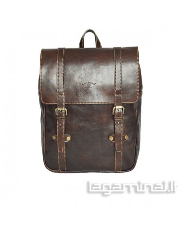 Leather backpack ITALY KN99 BN