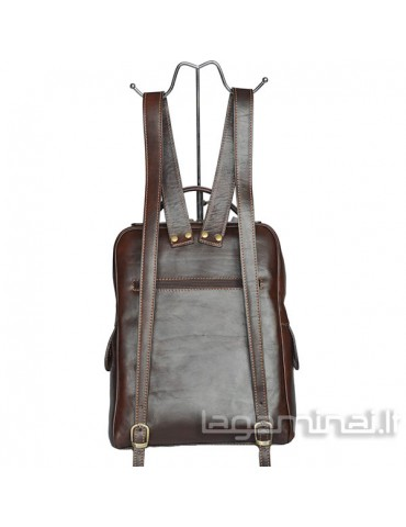 Leather backpack ITALY KN85 BN