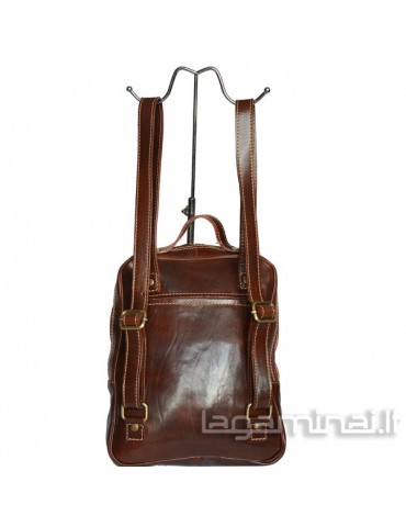 Leather backpack ITALY KN75 BN