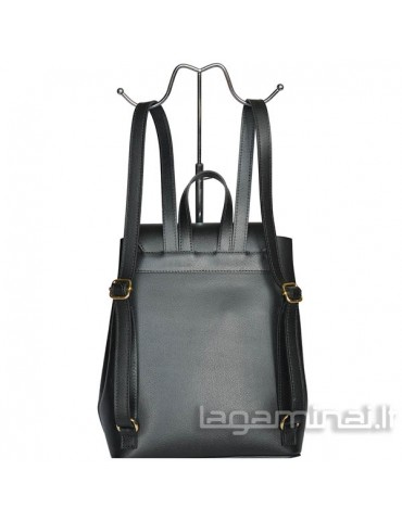 Leather backpack ITALY KN45 BK
