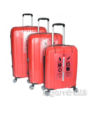 Luggage set SNOWBALL 83803 RD
