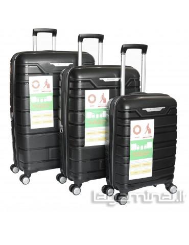 Luggage set SNOWBALL 91103 BK