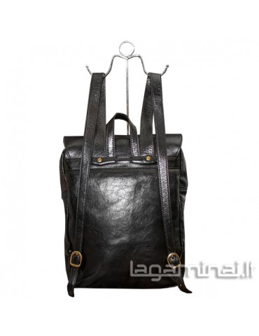 Leather backpack ITALY KN99 BK