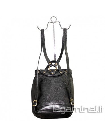 Leather backpack ITALY KN60 BK