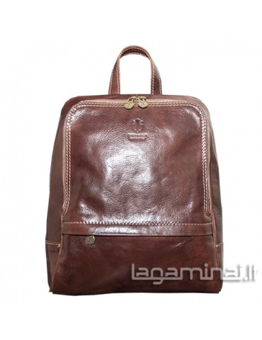 Leather backpack ITALY KN76