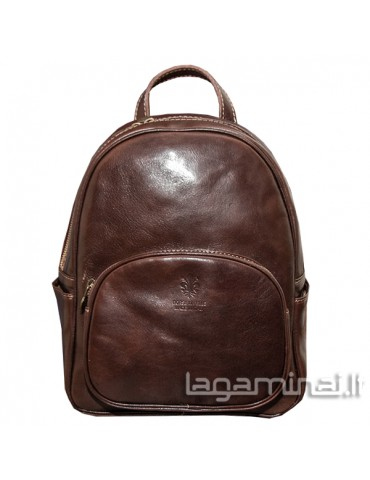 Leather backpack ITALY KN65 BN