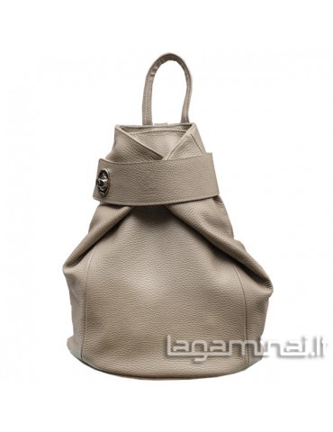 Leather backpack KN69 BG