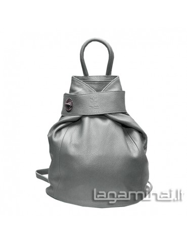 Leather backpack KN69 GY