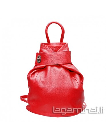 Leather backpack KN69 RD