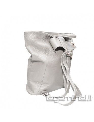 Leather backpack KN69 WT