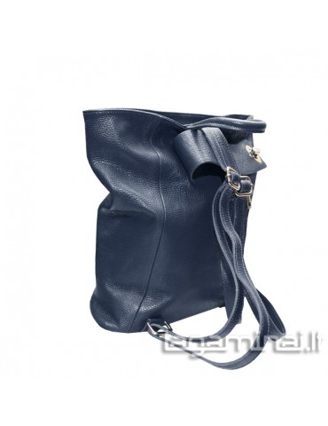 Leather backpack KN69 BL