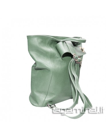 Leather backpack KN69 GN