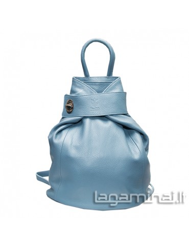 Leather backpack KN69 L.BL