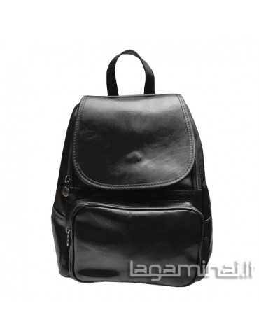 Leather backpack ITALY KN86 BK