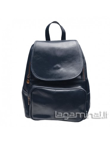 Leather backpack ITALY KN86 BL