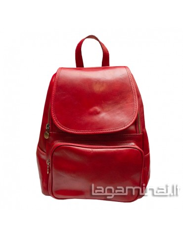 Leather backpack ITALY KN86 RD