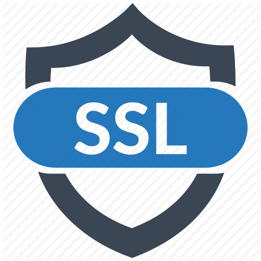 Safe shopping is secured by a secure connection  SSL certificate